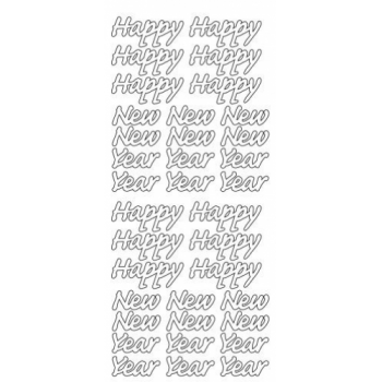 Happy New Year Outline Stickers