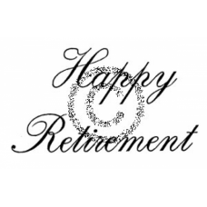 Happy Retirement Cling Stamp