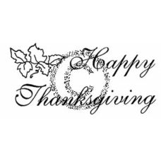 Happy Thanksgiving Cling Stamp