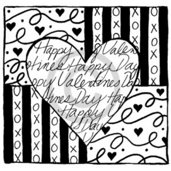 Happy Valentine's Heart Cling Stamp