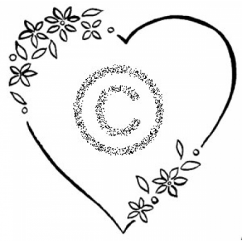 Heart With Daisies Cling Stamp