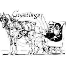 Horse and Sleigh Art Acetate