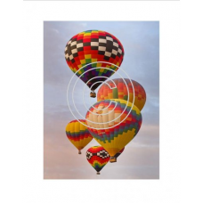 Hot Air Balloons, Vintage Hues Acetate