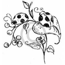 Ladybugs Cling Stamp