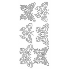 Large Butterflies Outline Stickers