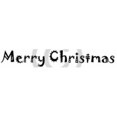 Merry Christmas Cling Stamp