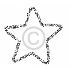 Merry Christmas Star Cling Stamp