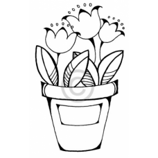 My First Tulips Cling Stamp
