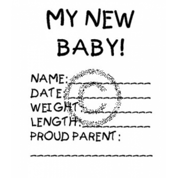 My New Baby Cling Stamp