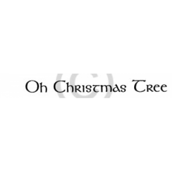 Oh Christmas Tree Cling Stamp
