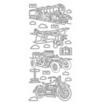 Old Driving Machines Outline Stickers 1489