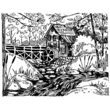 Old Mill Cling Stamp