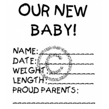 Our new Baby Cling Stamp