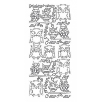 Owls Outline Stickers 2534