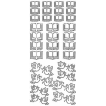 Peace Doves and Bibles Outline Stickers