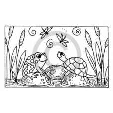 Pond Friends Cling Stamp