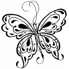 Queen Butterfly Cling Stamp