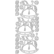 Rocking Horse Outline Stickers