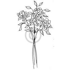 Rose Bunch Cling Stamp