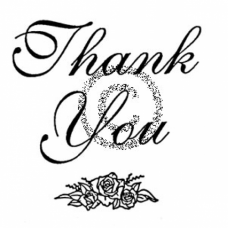 Rosette Thank You Cling Stamp