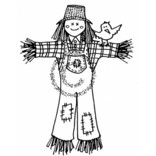 Scarecrow Cling Stamp