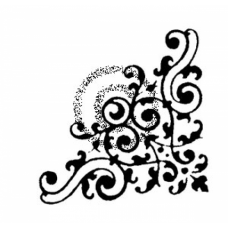 Scroll Corner Cling Stamp