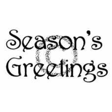 Season's Greetings Cling Stamp