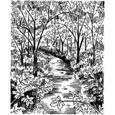 Shady Path Cling Stamp