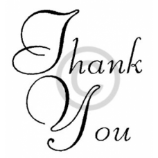 Simple Thank You Cling Stamp