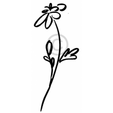 Single Brushed Flower Cling Stamp