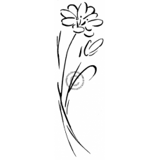Single Flower Cling Stamp