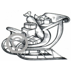 Sleigh of Goodies Cling Stamp