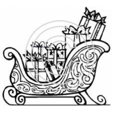 Sleigh with Presents Art Acetate