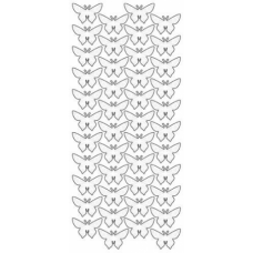 Butterflies small 3D Outline Stickers 1855