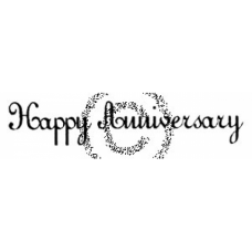Small Happy Anniversary Cling Stamp