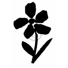 Small Painted Flower Cling Stamp