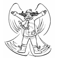 Snow Angel Cling Stamp