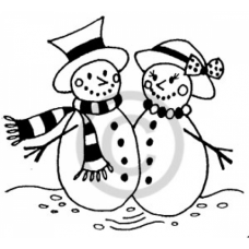Snow Couple Cling Stamp