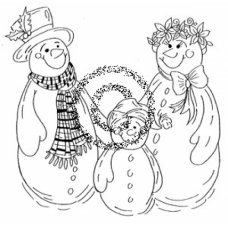 Snow Family Cling Stamp
