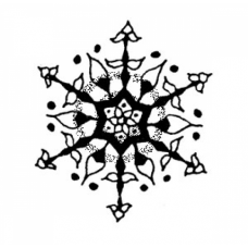 Snowflake Cling Stamp