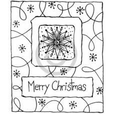 Snowflake and Merry Christmas Cling Stamp