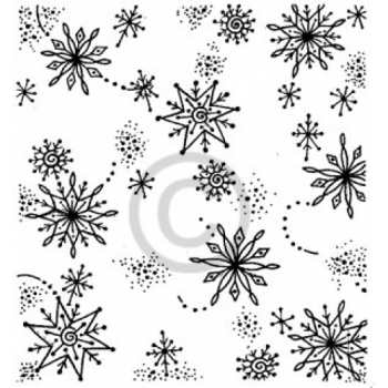 Snowflake Background Cling Stamp