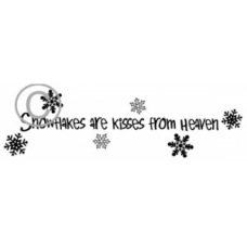 Snowflake Kisses Cling Stamp