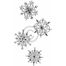 Snowflake Quartet Cling Stamp