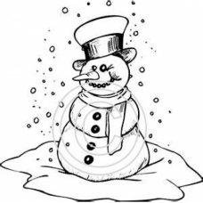 Snowing on Snowman Art Acetate
