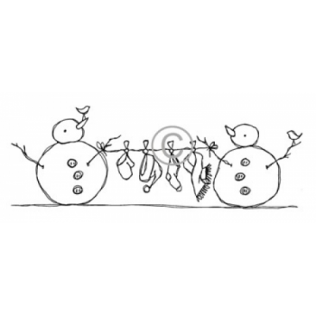 Snowman Clothesline Cling Stamp