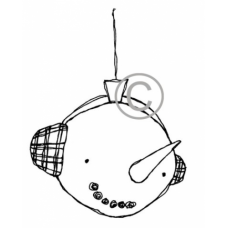 Snowman Ornament Cling Stamp