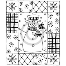 Snowman & Patches Cling Stamp
