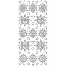 Snowstars Outline Stickers, snowflakes