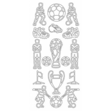 Soccer, outline sticker